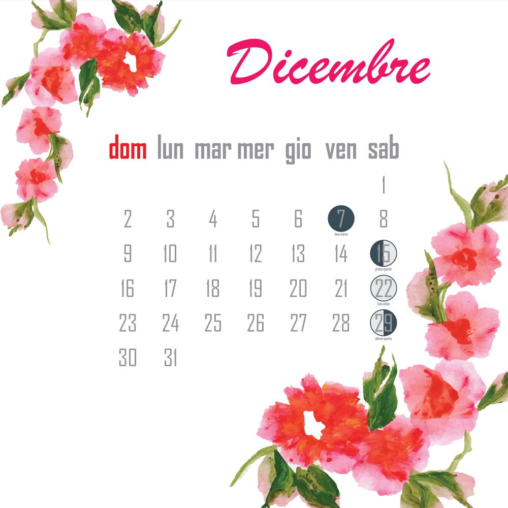 calendario lunare dicembre 2018