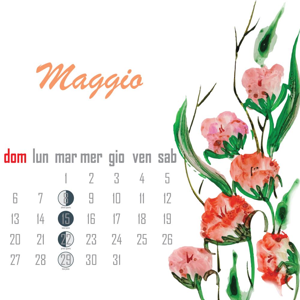 calendario lunare maggio 2018