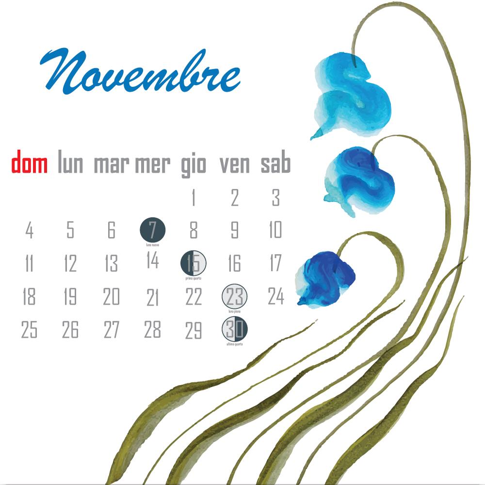 calendario lunare novembre 2018